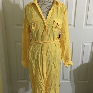 Yellow Shirt Dress by Suzi Chin for Maggy Boutique